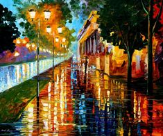 """""""Before The Sunrise"""" by Leonid Afremov ___________________________ Click on the image to buy this painting ___________________________ #art #painting #afremov #wallart #walldecor #fineart #beautiful #homedecor #design"""