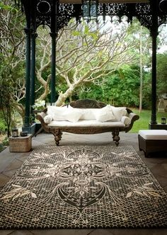 There are many ideas to create beautiful outdoor spaces for you and your family hang out. Check ways to improve your patio, garden or backyard. Outdoor Rooms, Outdoor Living, Outdoor Decor, Outdoor Areas, Outdoor Kitchens, Outdoor Seating, Interior And Exterior, Interior Design, Asian Home Decor
