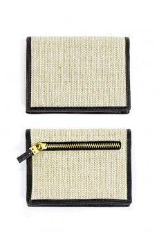 Card-Case in Jute and Black Hare, Card Case, Backpacks, Handbags, Wallet, Purses, Accessories, Black, Pocket Wallet