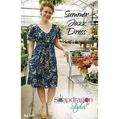Snapdragon Studios Summer Jazz Dress Sewing Pattern - With its nipped-in empire waist and a breezy flowing skirt that falls smoothly over the hips, the Summer Jazz Dress drapes beautifully and flatters every figure. Made as a top, a dress or a maxi, with optional inseam pockets to carry all your essentials, it's the perfect pattern for all the occasions in your life. :: $16.00