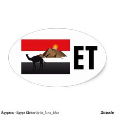 Ägypten - Egypt Kleber Ovaler Aufkleber