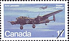 Canadian Postal Archives Database Postal Administration: Canada Title: Avro Lancaster Denomination: 17¢ Date of Issue: 10 November 1980