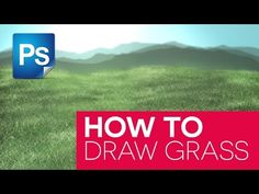 How To Draw Grass in Photoshop - YouTube