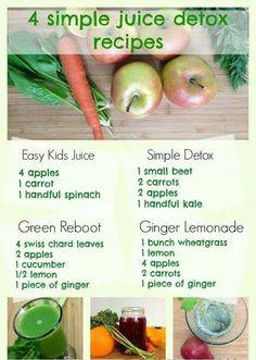 Detox Juice Recipes, Healthy Juice Recipes, Juicer Recipes, Healthy Juices, Healthy Smoothies, Detox Juices, Juice Cleanse, Cleanse Detox, Cleanse Recipes
