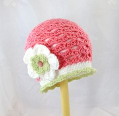 Toddler crocheted watermelon hat fruit hat by BitsOfFiber on Etsy, $25.00