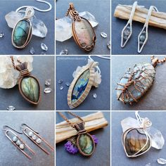 #ThrowbackThursday to some of my favorite pieces from my Labradorite Update last year. Labradorite is a special feldspar with a magical property that lets it change colors. I am still obsessed with this stone! www.wiremoonjewelry.etsy.com