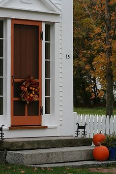 Autumn Front Doors of New England