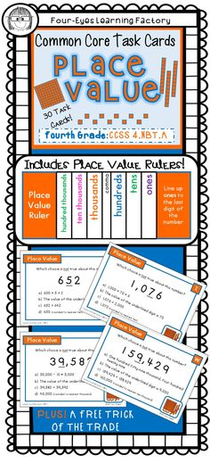 Students will: • Identify place value up to hundred thousands • Recognize digit in one place is ten times digit to right • Read word form • Read expanded form • Compare two multi-digit numbers • Round multi-digit numbers