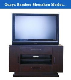 """Guoya Bamboo Shenzhen Merlot TV Stand 202-01. 36""""H x 60""""L x 20"""" W 100% Bamboo. Fine Furniture for the 21st century by guoya bamboo furniture, Division of the guoya group of companies. Features Include: Moso Bamboo Timber Solids and Veeneers ; Totally Sustainable; 100% Renewable Harvest Same Timber every 4-5 Years Mountain Grown for Hardness; Stronger Than Oak or Maple Naturally Beautiful Full Extension Ball-Bearing Drawers Environmental Finishes Leading Edge Designs """"Green"""" Production..."""