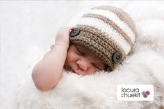 gorro crochet bebe http://locuraenelhuekit.blogspot.com.ar/2013/05/gorro-crochet-bebes-paso-paso.html