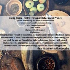 Viking Recipe - Boiled Chicken With Leeks And Prunes