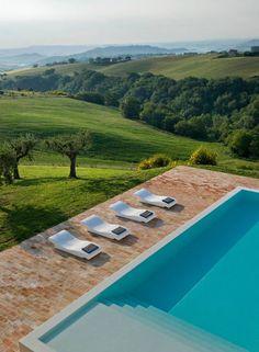 MARKUS WESPI  JEROME DE MEURON . Le Marche, Italy . Casa Olivi . Outdoor Living . Pool