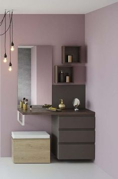 exquisite dressing table makes the bedroom more warm 15 Dressing Table Design, Easy Home Decor, Room Design, Room Interior, Home Decor, Stylish Bedroom, Bedroom Bed Design, Dressing Room Design, Interior Design