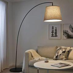 NOT Golvlampa upp, svart IKEA