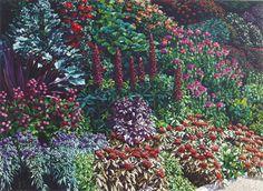 Karl Maughan, Star and Garter Hill New Zealand Art, Nz Art, Cottage Gardens, Garden Paths, Garter, My Dream Home, Galleries, Flora, Paintings
