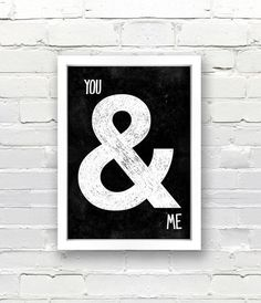 Black & White, apartment decor, i am a big fan of the Ampersand ; White Apartment, Apartment Ideas, Apartment Design, Apartment Therapy, 1st Apartment, Black And White Posters, Black White, Work Success, Typography Poster