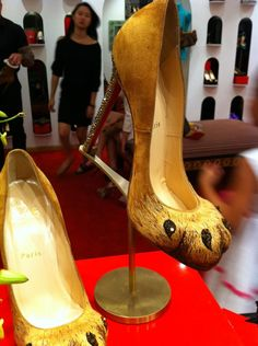 "Christian Louboutin ""Alex Lion Paw Pumps"" at CL Jakarta. #pumpsshoesjakarta Lion Paw"
