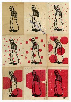 Gary Taxali Retro Art, Vintage Art, Graphic Design Illustration, Illustration Art, James Rosenquist, Homunculus, Linoleum Block Printing, Claes Oldenburg, Jasper Johns