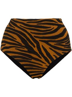 Shop Mara Hoffman Lydia tiger print bikini bottoms from our collection. Mara Hoffman, Tiger Print, Zebra Print, Boutiques, Style Surfer, Surf Style, Creature Of Habit, Spring Line, Best Tan