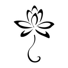 A small tattoo design of a lotus flower that represents new beginning. Simple Flower Drawing, Simple Flower Tattoo, Flower Tattoo Back, Small Flower Tattoos, Simple Flowers, Small Tattoos, Lotus Flowers, Tattoo Flowers, Drawing Flowers