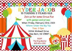 Circus Birthday Party Invitation