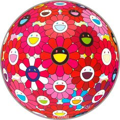 View Flower Ball Red (Letter to Picasso) by Takashi Murakami on the KUMI Contemporary website
