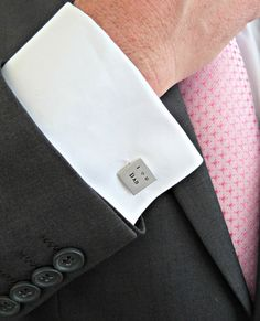 Father of the Bride Silver Cuff Links Square by vintagestampjewels