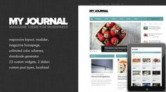 My Journal is flexible, customizable and fully responsive magazine WordPress theme with clean and sleek design. Theme includes lots of advanced features and functions and is based on solid backend framework.