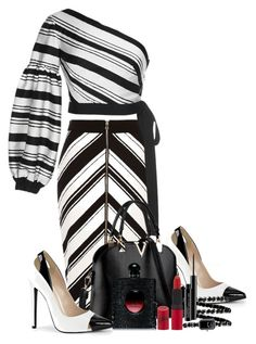 """""""Stripes"""" by alexandralaura ❤ liked on Polyvore featuring River Island, Alexis, Yves Saint Laurent, Chanel, Rimmel and MAC Cosmetics"""