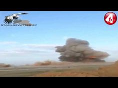 IRAQ ISIS car bomb is destroyed by Iraqi forces