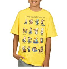 Endless opportunities with Minecraft Career Opportunities Youth T-shirt.
