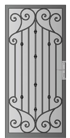 Security Screen Doors : Great Gates and Whiting Iron in Phoenix AZ Grill Gate Design, Steel Gate Design, Window Grill Design, Door Gate Design, Wooden Door Design, Railing Design, Steel Doors And Windows, Iron Windows, Iron Doors