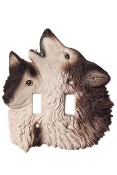 Vicki Lane Light Switch Decor Cover - Timber Wolf, double switch