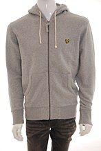 Lyle and Scott Mens Hoody Grey c_XL Zip Thru Regular Fit - Various Size Options