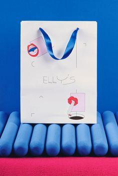 Elly's on Behance Visual Identity, Brand Identity, Serif Typeface, Handwritten Letters, Restaurant Branding, Shopper Tote, Mexico City, Graphic Design Illustration, Case Study