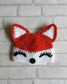 FOX CROCHET PATTERN collection fox crochet patterns fox hat fox headband fox hand bag - Crochet and Knitting Patterns Crochet Kids Hats, Crochet Fox, Crochet Baby Booties, Crochet Beanie, Free Crochet, Crochet Animal Hats, Sombrero A Crochet, Fox Hat, Fox Pattern