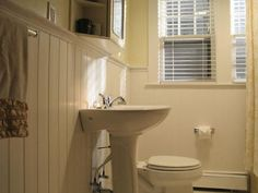 Before U0026 After: Covering Bathroom Tile With Wainscoting | Wainscot Solutions