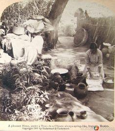 Fotos de Irapuato, Guanajuato, México: Haciendo Tortillas Hacia 1900