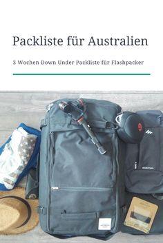 Australien Packliste: 3 Wochen Down Under mit Handgepäck. #australien #packliste #reiseplanung