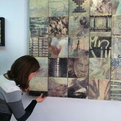 Shades of Grey -- encaustic installation by Erin Keane