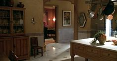 I love the mood of the set lighting PMD Design Inspirations: Perfect Sets - A Perfect Murder Interior Styling, Interior Decorating, Interior Design, Decorating Ideas, A Perfect Murder, Hollywood Homes, Country Interior, Wood Bridge, Beautiful Kitchens