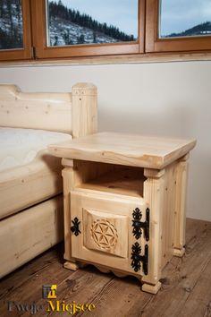 Łóżka z litego drewna, łóżko góralskie, łóżka drewniane