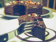 Vegan chocolate cake for chocoholic  Veganska čokoladna torta za ljubitelje čokolade/ Vegan chocolate cake Dairy Free, Vegan Recipes, Goodies, Canning, Cake, Desserts, Food, Sweet Like Candy, Tailgate Desserts