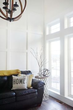 Living room paneling ideas. Living room paneling ideas. We decided on a beautiful and simple white square board and batten for this room because I just felt it was a little more formal but also very simple and clean. Living room paneling ideas. Living room paneling ideas #Livingroompaneling #Livingroompanelingideas Home Bunch's Beautiful Homes of Instagram @household no.6