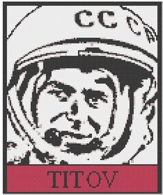 Gherman Titov Cross Stitch PDF Pattern on Etsy, $3.00