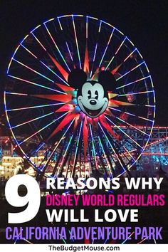 9 Reasons Why Disney World Regulars Will Love California Adventure Park Disney World Theme Parks, Disney World Planning, Walt Disney World Vacations, Disney California Adventure Park, Disneyland California, Disneyland Paris, Disney World Tips And Tricks, Disney Tips, Disney Fun