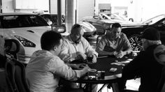 Car culture club Club Sportiva's Silicon Valley location holds car events--and poker--for members.