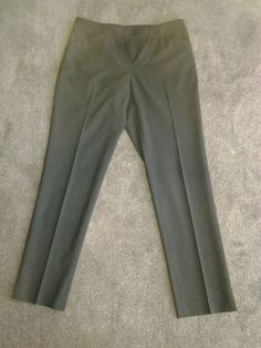 LAFAYETTE 148 NEW YORK BLACK VIRGIN WOOL CLASSIC FIT ANKLE LENGTH PANTS P2 #Lafayette148NewYork #CasualCroppedPants