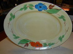 Art Deco Dolly Cliff Meat Platter Clarice Cliff Sister Wilikinsons 1930s rare