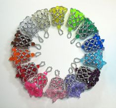 Customized Beaded Bell Ornaments in many by creativetradition